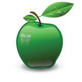 绿色苹果 皇族释放例证