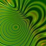 绿色荧光的形状背景 经线能量 艺术图表想法 柔光作用 圈子流程 线型概念 颜色 免版税库存照片