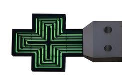 绿色药房标志 免版税库存图片