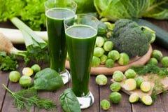 绿色菜圆滑的人 库存照片