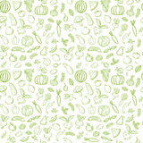 绿色菜无缝的样式 免版税图库摄影