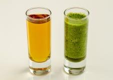 绿色菠菜无头甘蓝戒毒所圆滑的人 图库摄影