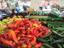 绿色葡萄新鲜市场购物 免版税库存图片