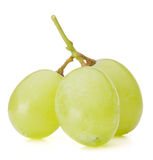 绿色葡萄束 免版税库存图片