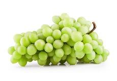 绿色葡萄束 库存照片