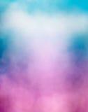 紫色蓝色云彩和Bokeh 库存照片