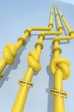 黑色蓝色危机可燃气体管道 库存图片