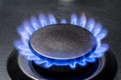 黑色蓝色可燃气体自然管道 免版税库存图片