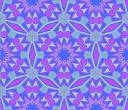 紫色蓝色样式装饰品 库存例证