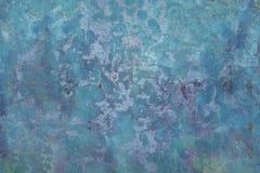 水色蓝色水泥墙壁背景纹理 库存图片