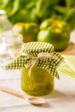 绿色蕃茄果酱 免版税库存图片