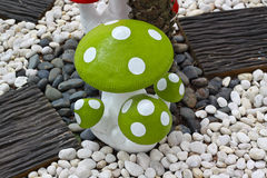 绿色蘑菇 库存照片