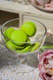 绿色蛋白软糖 免版税库存照片