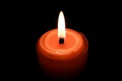 黄色蜡烛 库存图片