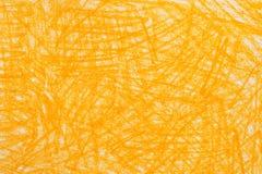 黄色蜡笔乱画背景纹理 库存图片