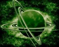 绿色行星-幻想空间 免版税库存照片