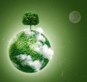 绿色行星 库存图片