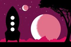 紫色行星 免版税库存照片
