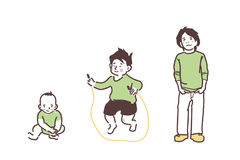 绿色衣裳的孩子 免版税库存照片