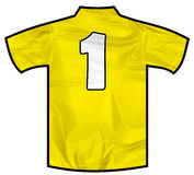 黄色衬衣一 图库摄影