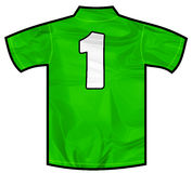 绿色衬衣一 免版税库存图片