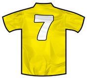 黄色衬衣七 免版税库存图片