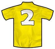 黄色衬衣两 免版税库存照片