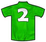 绿色衬衣两 免版税库存图片
