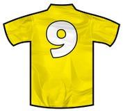 黄色衬衣九 免版税库存照片