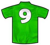 绿色衬衣九 图库摄影