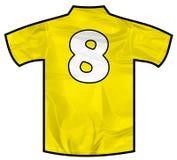 黄色衬衣八 免版税库存照片