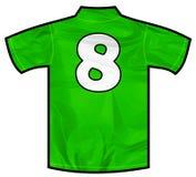 绿色衬衣八 图库摄影