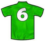 绿色衬衣六 免版税库存图片