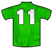 绿色衬衣十一 免版税库存照片