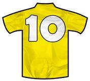 黄色衬衣十 图库摄影
