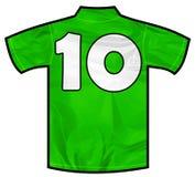 绿色衬衣十 免版税库存图片