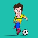 黄色衬衣控制橄榄球动画片 免版税库存照片