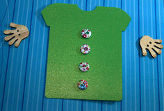 绿色衬衣t 库存图片