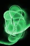 绿色被带领的小条 免版税库存图片