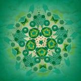 绿色被环绕的几何形状的无缝的样式 免版税库存图片