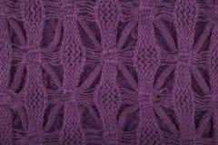 紫色被编织的纹理 免版税库存照片