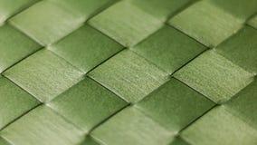 绿色被编织的饭桌Placemat 库存照片