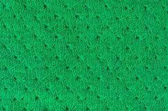 绿色被编织的织品纹理 图库摄影
