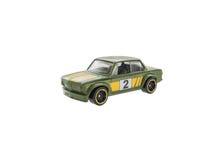 绿色被隔绝的玩具赛车 图库摄影