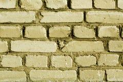 黄色被风化的砖墙纹理 图库摄影