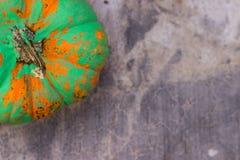 绿色被绘的南瓜1 免版税库存图片