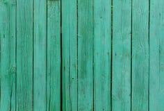 绿色被绘的木板条 免版税库存图片