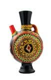 黑色装饰了被手工造的瓦器水罐 免版税图库摄影