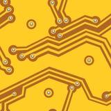 黄色计算机板 1866根据Charles Darwin演变图象无缝的结构树向量 库存例证