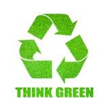 绿色认为 免版税图库摄影